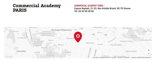 formation commercial paris