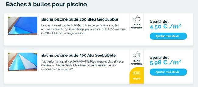 bache piscine alu Geobubble